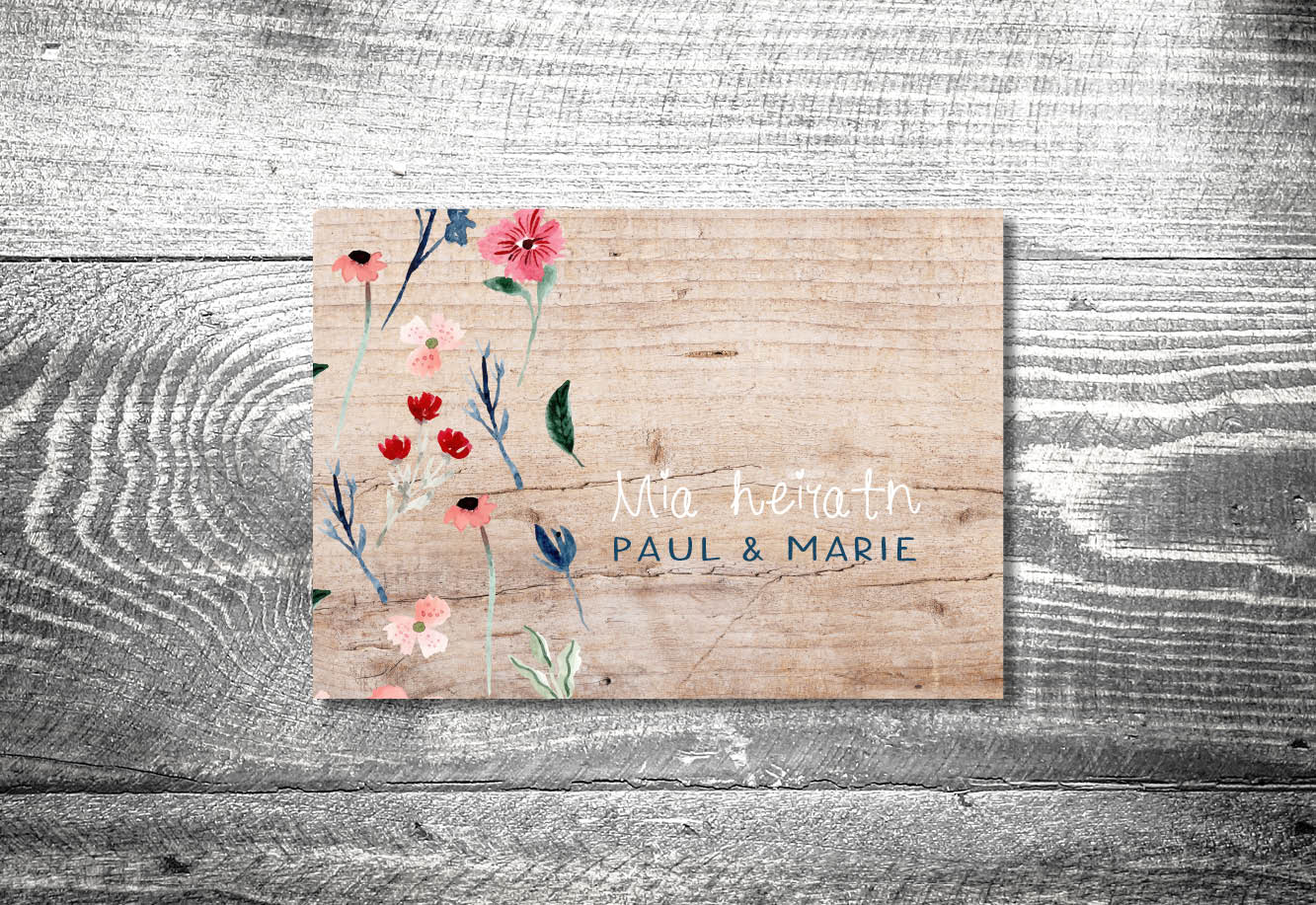 kartlerei bayrische einladungskarten hochzeitseinladung bluetenliebe - Hochzeitskarten Set