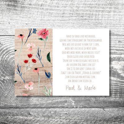 Hochzeit Blütenliebe | 2-Seitig