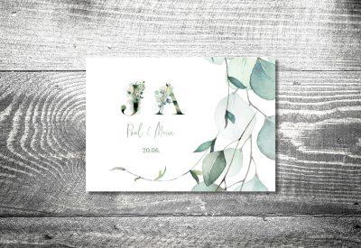 kartlerei bayrische einladungskarten hochzeitseinladung eukalyptus3 400x275 - Trachtenhochzeit