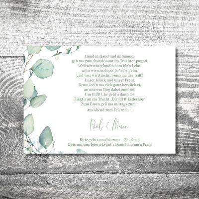 Hochzeit Eukalyptus | 2-Seitig
