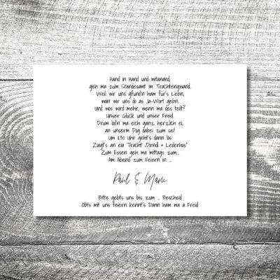 Hochzeit Holzliebe | 2-Seitig