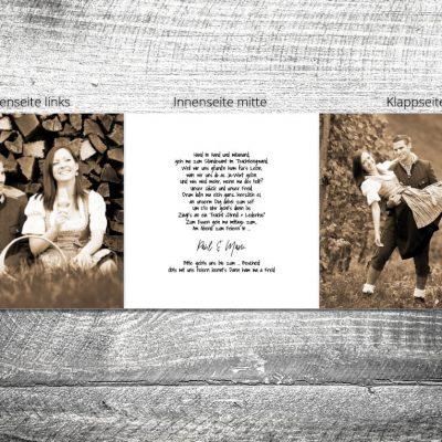 Hochzeit Holzliebe | 6-Seitig