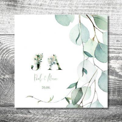 Hochzeit Eukalyptus | 6-Seitig