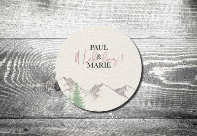 kartlerei bayrische einladungskarten bierdeckel hochzeit a lebn lang berge bergliebe 400x275 - Change the Date