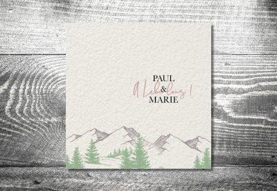 kartlerei bayrische einladungskarten hochzeitskarte bergliebe berge wohnwagen 4 400x275 - Trachtenhochzeit