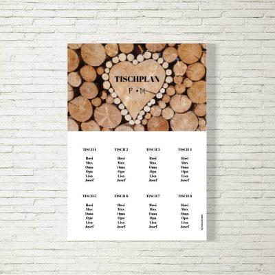 Tischplan Hochzeit Holzliebe