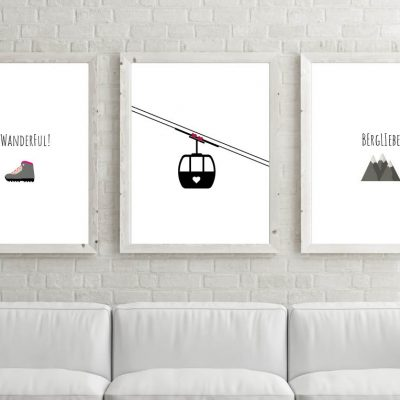 Poster-Set Be Wanderful