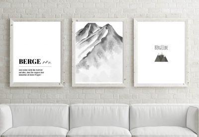 Poster set berge definition 400x275 - Poster & Bilder