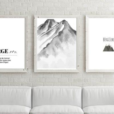 Poster-Set Berge lieben