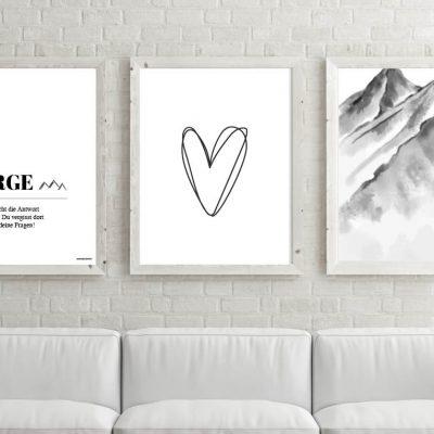 Poster-Set Berge Herzl