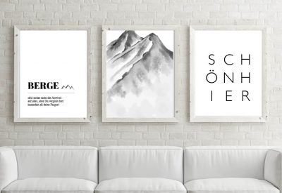 Poster set berge schoen hier 400x275 - Poster & Bilder