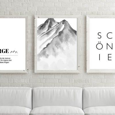 Poster-Set Berge Schön hier
