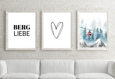 Poster set bergliebe gondel 400x275 - Poster & Bilder