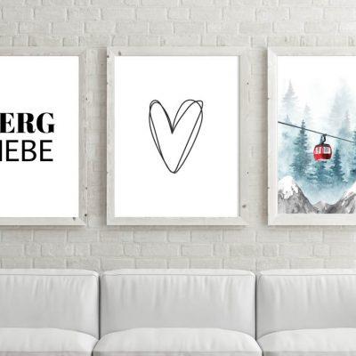 Poster-Set Bergliebe Gondel