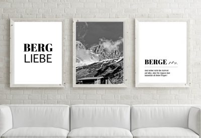Poster set bergliebe wilder kaiser 400x275 - Poster & Bilder