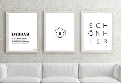 Poster set dahoam haus 400x275 - Poster & Bilder