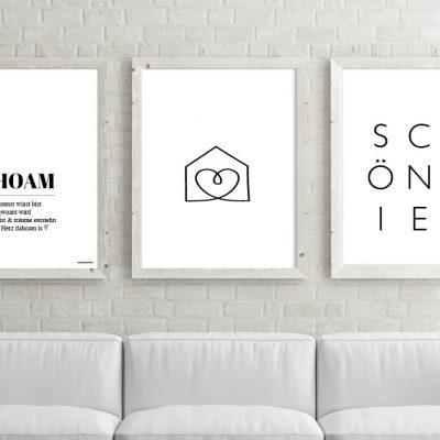 Poster-Set Dahoam Haus