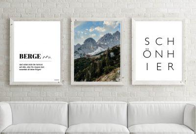 Poster set kaisergebirge 400x275 - Poster & Bilder