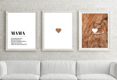 Poster set mama holz 400x275 - Poster & Bilder