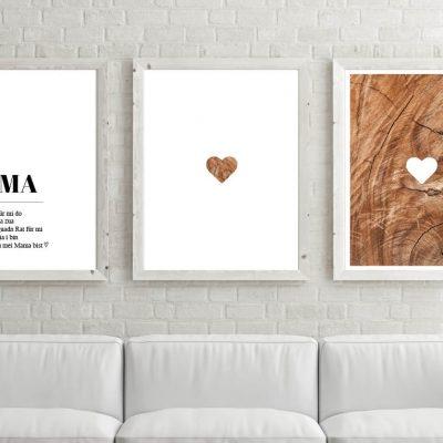 Poster-Set Mama Holz