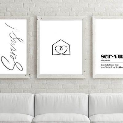 Poster-Set Servus