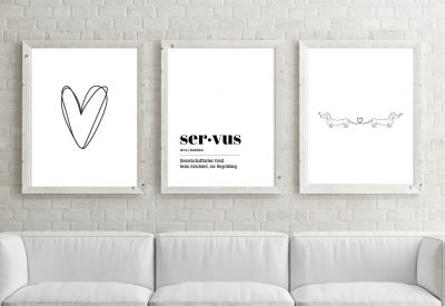 Poster set servus herzl 400x275 - Poster & Bilder