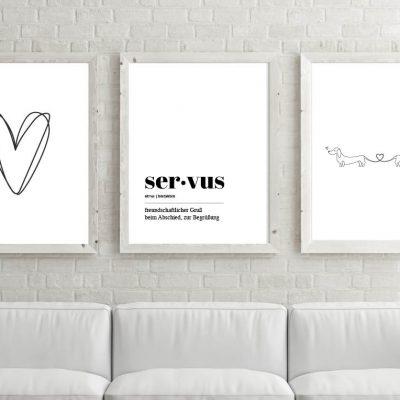 Poster-Set Servus Zamperlliebe