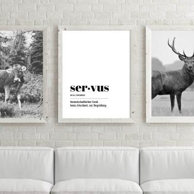 Poster-Set Servus Kuh & Hirsch