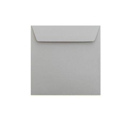 Umschläge Quadratisch 155 x 155 mm – Grau mit Haftstreifen