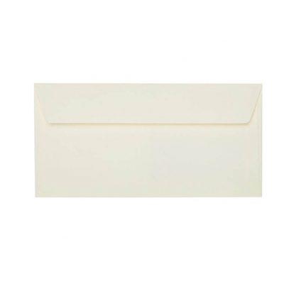 Umschläge DIN lang 110 x 220 mm – Zartcreme mit Haftstreifen