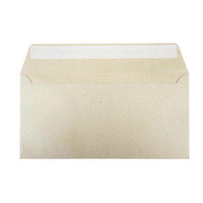Umschläge DIN lang 110 x 220 mm – Graspapier mit Haftstreifen