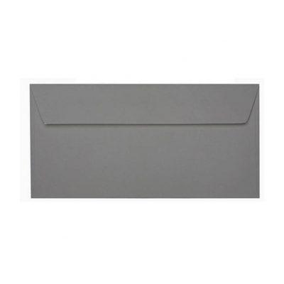 Umschläge DIN lang 110 x 220 mm – Dunkelgrau mit Haftstreifen