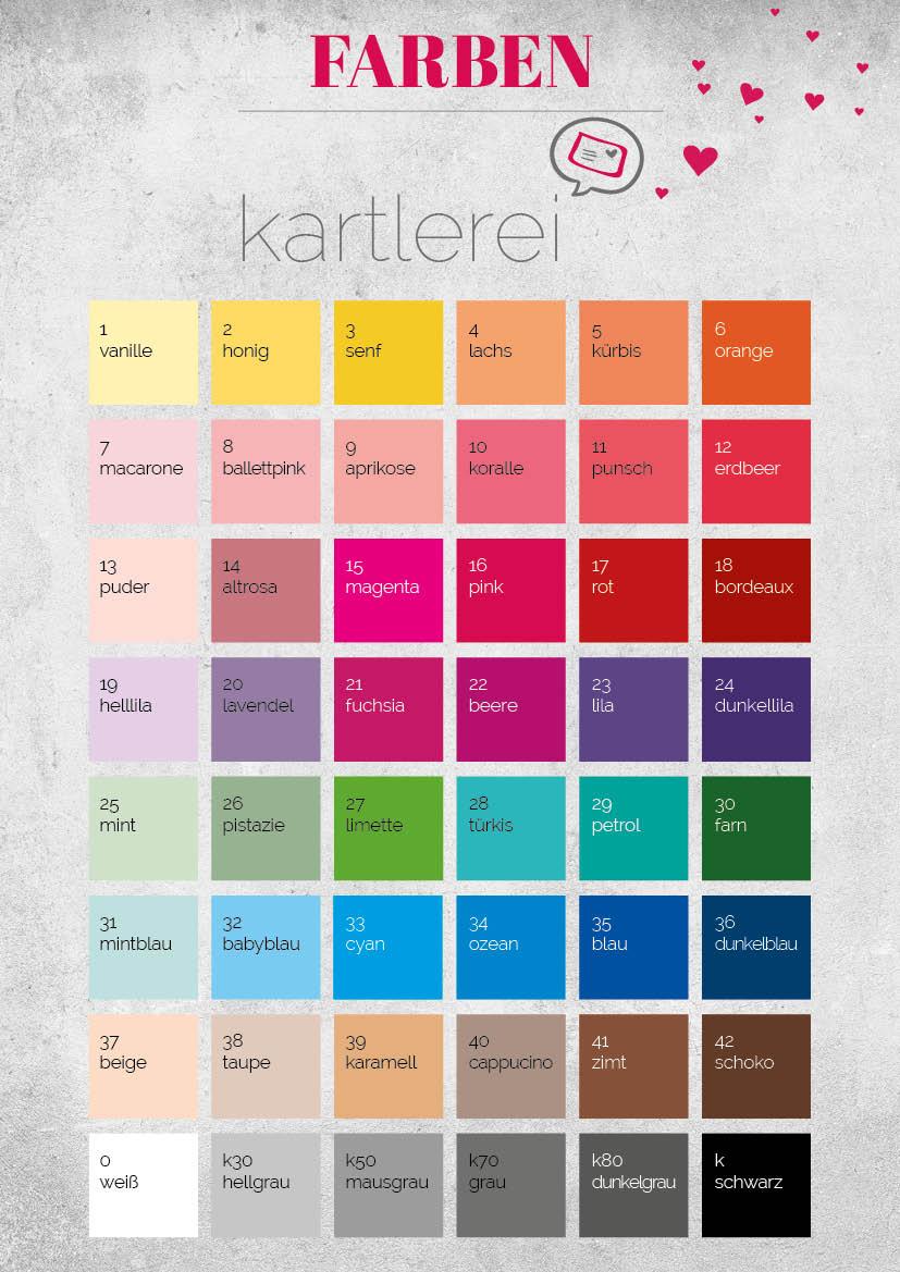 kartlerei farben wunschfarbe - Farbauswahl