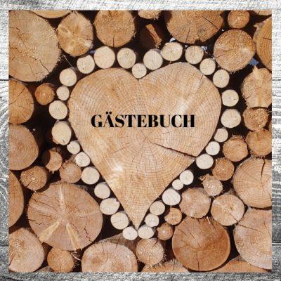 Gästebuch Holzliebe Herz