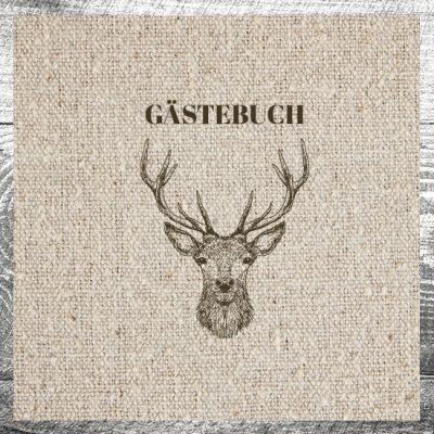 Gästebuch Hirsch Leinen