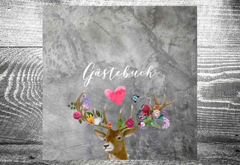 kartlerei gaestebuch bayrisch flower power hirsch - Home