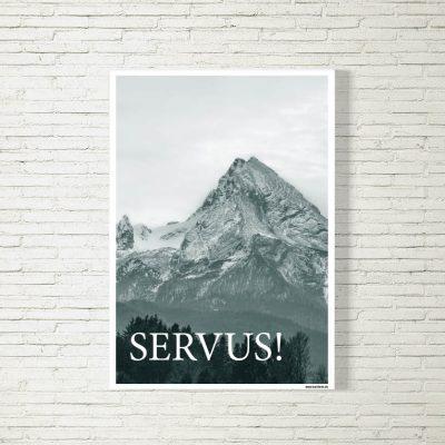 Poster/Bild Servus Watzmann