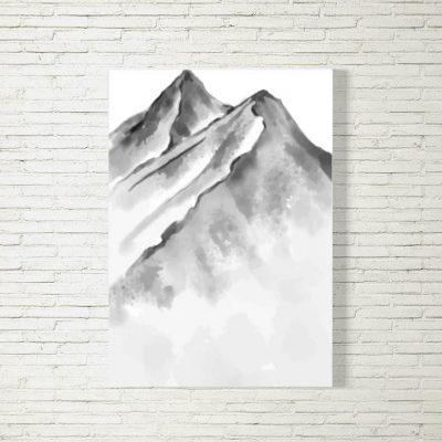 Poster/Bild Berge Aquarell