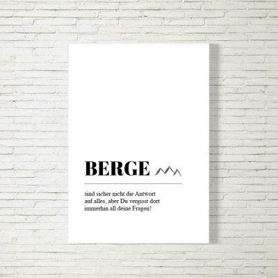 Poster/Bild Berge Definition