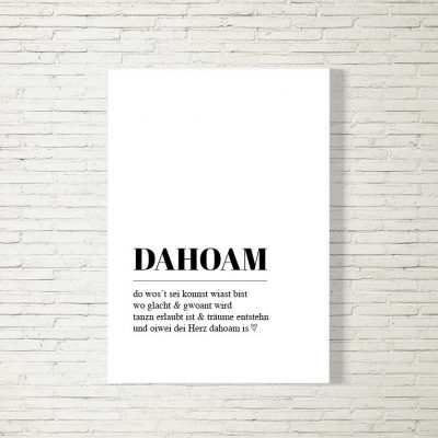 Poster/Bild Dahoam Definition
