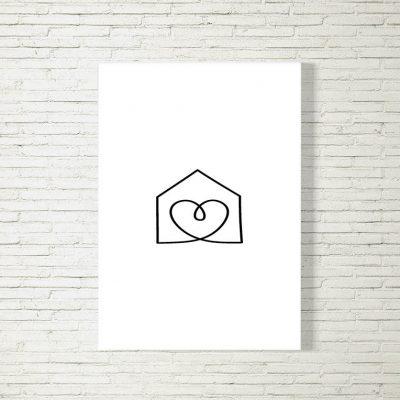Poster/Bild Haus