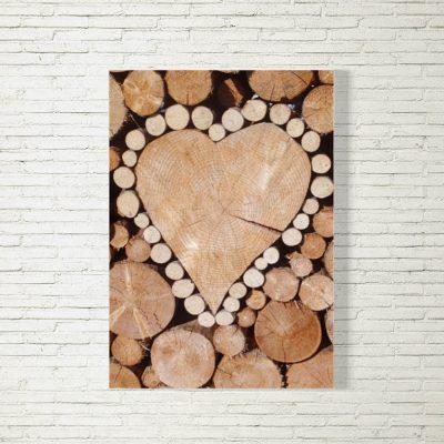 Poster/Bild Herzstapel