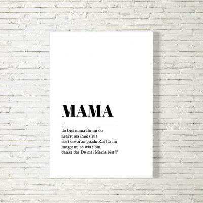 Poster/Bild Mama