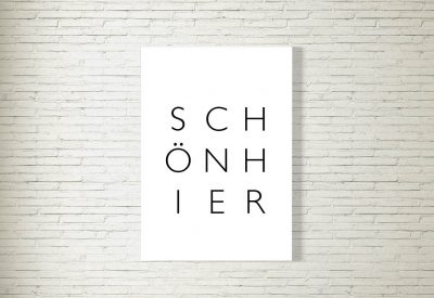 kartlerei poster shop bayrische poster schoen hier 400x275 - Poster & Bilder