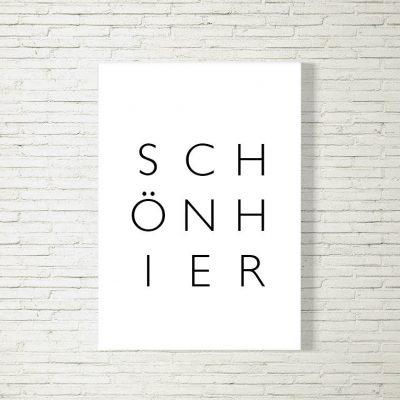 Poster/Bild Schön Hier