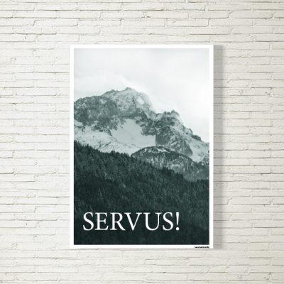 Poster/Bild Servus Zugspitze