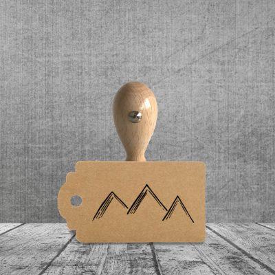 Holzstempel Motiv Berge