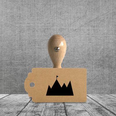Holzstempel Motiv Berggipfel