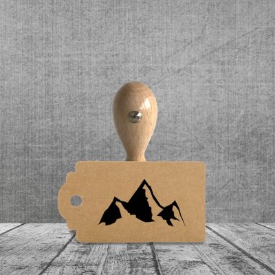 Holzstempel Motiv Bergliebe
