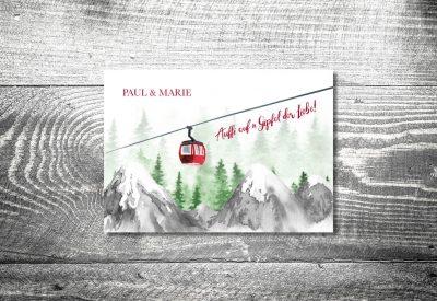 Karten auf Holz Hochzeit gondelliebe bergliebe3 400x275 - Trachtenhochzeit